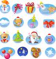Set of Christmas icons - vector image
