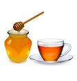 cup of tea with honey vector image