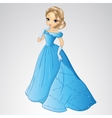 Beautiful Cinderella In Blue Dress vector image