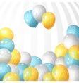 Balloons background vector image