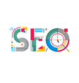 Abstract concept - SEO word vector image