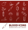 blood outline icons vector image