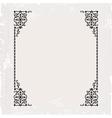 calligraphic ornate vintage frame border vector image