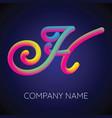 h letter logo icon blending color vector image