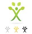 human tree symbol vector image