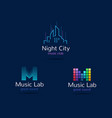 music club logo templates creative music signs vector image