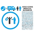 Robbery Icon with 1000 Medical Business Pictograms vector image