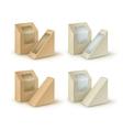 Set of Brown Blank Cardboard Take Away Boxes vector image vector image