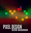 Pixel abstract background as colorful mosaic vector image vector image