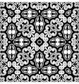 Vintage monochrome pattern vector image vector image