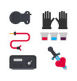 Tattoo salon equipment and tattooing tools vector image