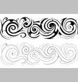 Floral swirls with seamless ornament vector image vector image