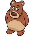shy bear animal cartoon vector image vector image