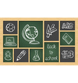 Back to school sketch icon set vector image