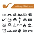 vintage objects icons vector image