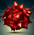 Geometric red polygonal structure modern science vector image