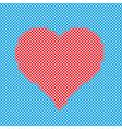 Crisscross Heart vector image vector image