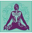 yoga turquoise background vector image