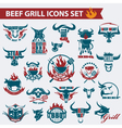 beef meat icons vector image vector image