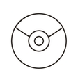 cd disk isolated icon vector image