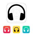 Dj Headphones icon vector image