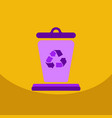 garbage waste recycling line art thin icons set vector image