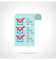 Medicines checklist flat color icon vector image