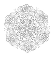 Mendie Mandala with butterflies and flowers vector image