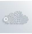 modern mechanism computing cloud concept vector image