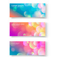 set of banners with abstract circles vector image