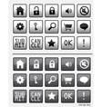 Set icons web vector image vector image