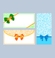 Realistic color bows collection vector image