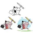 Cartoon creature running vector image vector image