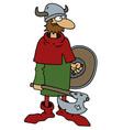 Funny old viking warrior vector image