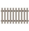 Wooden seamless fence rectangle shape isolated vector image