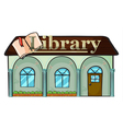 A library vector image