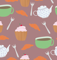 Pattern coffee seamless vector image