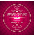 red valentines day greeting card with hearts vector image