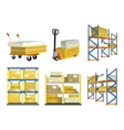 Set of Warehouse Elements vector image