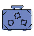 suitcase travel luggage with stickers and handle vector image