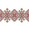 ukrainian ethnic style cross stitch embroidery vector image