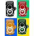 vintage retro old film camera vector image