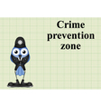 Crime prevention zone UK vector image vector image