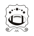 monochrome frame with football ball and stars vector image