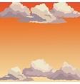 sunrise sky sunset clouds vector image