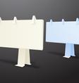 Origami information boards vector image vector image
