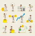 business investment characters set vector image