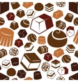 chocolate seamless pattern vector image