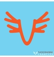 Deer horns symbol vector image