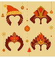 A set of masks to celebrate a happy new year 2016 vector image